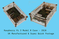 Screw Case CLEAR RASPBERRY PI 3 B, B+ (2016) Enclosure Box- RPI 3B- Fast Post UK