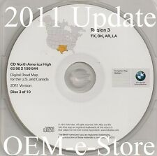 1997 to 2002 BMW 7 5 3 Series M3 M5 X5 Navigation CD Map #3 Cover: TX OK AR LA