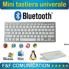 Tastiera Bluetooth Keyboard Slim Wireless per Apple iMac Macbook iPhone iPad uni