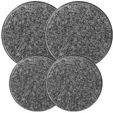 Reston Lloyd Electric Stove Burner Covers, Set of 4, Black Granite New
