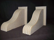 wooden corbels,handcrafted,,large,mantle,fireplace,shelf,shelves,unprimed,mdf