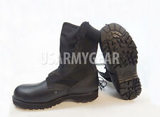 NEW WELLCO  Black Hot Weather Leather Canvas Spike Protective Combat Boots 12 R