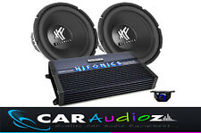 "Paquete De Bajo Doble HIFONICS BIG 12"" Subwoofer Amplificador Car Audio Oferta Ganga"
