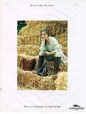PUBLICITE ADVERTISING 045  1991   LONGCHAMP    sacs & bagages 2