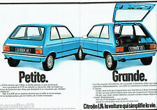 PUBLICITE ADVERTISING 036  1978  Citroen la LN  (2pages)*