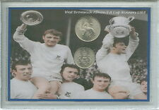 W.B.A West Bromwich Albion Brom WBA Vintage F.A Cup Winners Coin Gift Set 1968