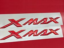 Coppia Adesivi Resinati Sticker 3D  XMAX X MAX New Red Metallic