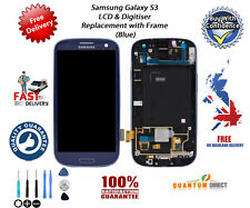 Genuine OEM Samsung Galaxy S3 i9300 LCD & Digitiser Assembly with Frame - BLUE