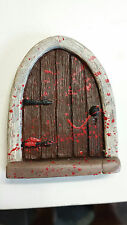 Halloween Fairy door, mouse door, Gnome door, Zombie fairy door