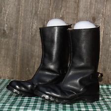 Vtg Leather Flying Motorcycle Boots Size 8 Classic/Cafe Racer/Rocker/Fireman