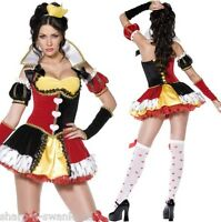 6 Pc Ladies Sexy Queen of Hearts Alice in Wonderland Fancy Dress Costume Outfit