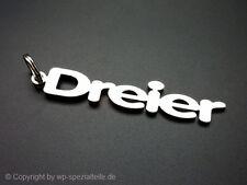 VW Golf 3 Dreier Schlüsselanhänger Emblem GTI 16V VR6 R32 Turbo Golf ABF Cabrio