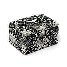 Wild Charcoal Floral Classic Square Sewing Stool Craft Hobby Basket