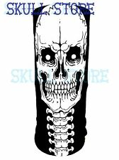 ZOMBIE SKULL JAW BONE NECK BONES FACE WIND MASK TUBE SEAMLESS BIKER LARP COSPLAY