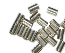 10mm Tube Cylinder Bright Silvertone Metalized Metallic Beads