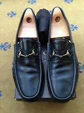 Gucci Men's Shoes Black Leather Horsebit Loafers UK 11 US 12 EU 45