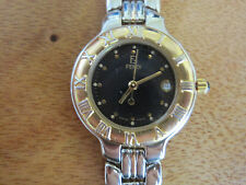 #257 ladys stainless steel and gold plate FENDI date  watch