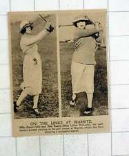 1920 Mlle Pastor And Mrs Keeble Lilla Mccarthy Golf Course Biarritz