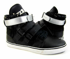 Radii Shoes Straight Jacket Hi Straps Black/Silver Sneakers Size 9 EUR 42.5