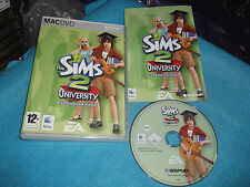THE SIMS 2 UNIVERSITY EXPANSION PACK APPLE MAC V.G.C. FAST POST COMPLETE
