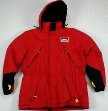 Malboro Country Store Mens Duck Down Red Ski Snow Hood Heavy Puff Coat Jacket XL