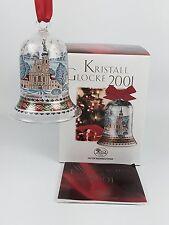 Hutschenreuther Glasglocke Kristall Glocke Weihnachtsglocke 2001 mit Verpackung