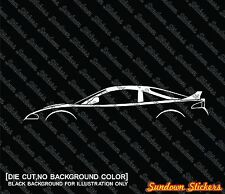 2X Car silhouette stickers - for Mitsubishi Eclipse GS-T, 2G with high rise, JDM