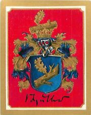 Karl von Müller Colonel Germany Armoiries Coat of Arms IMAGE CHROMO 30s