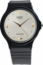 Casio Classic White with Gold Analog Watch MQ-76-7A1 New Black Resin Band