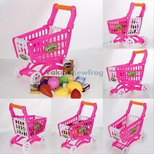 Mini Market Shopping Cart with Fruit Food Toy Fun Prentend Play Playset for Kids