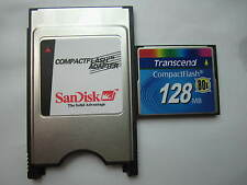 Transcend 128MB 80X Compact Flash +ATA PC card PCMCIA Adapter JANOME Machines