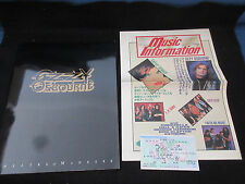 Ozzy Osbourne 1991 Japan Tour Book with Ticket AD Paper Black Sabbath Zakk Wylde