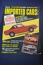May 1970 Imported Cars Magazine, Triumph 3, Super VW Beetles, BMWs, Fiat 850