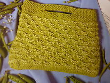 Knitting Pattern To Knit Simple Swag Bag In Rowan Handknit Cotton-Size 12 x 10in