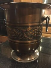 Copper Wine Country Embossed Footed Ice Bucket Wine Bucket Beautiful Detail