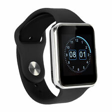 "GW08 1.54"" Bluetooth Smart Wrist Watch Phone Mate TF&SIM For Android IOS Silver"