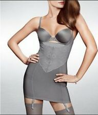 NEW Grey Slimming Full Body Shaper. Control Bodysuit Slip Dress.Spanx. Size S/M