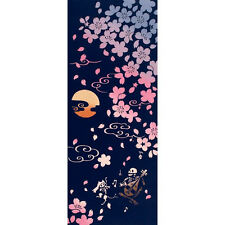 Skeleton BIWA SHIRAHONE  - Tenugui Tapestry 36 X90 cm JAPANESE COTTON COLLECTION
