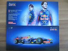 Handsignierte Autogrammkarte *SEBASTIAN VETTEL* REDBULL Formel 1 Saison 2013 RAR