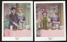I LOVE LUCY Souvenir Sheets - MONGOLIA #2453 -54 Mint, NH - E32a