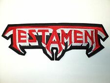 TESTAMENT    SHAPED  LOGO  EMBROIDERED BACK PATCH
