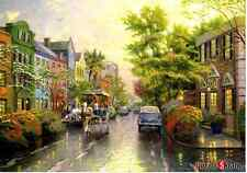 "Jigsaw Puzzles 1000 Pieces ""Charleston, Sunset on Rainbow Row""/ Thomas Kinkade"