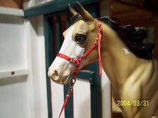 Jaapi RED halter w/lead-fit Breyer traditional models, not for real horse