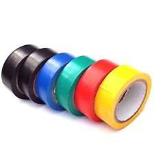 6 Pack PVC Insulation Tape Assorted Colour Flame Retardant Electrical 8M - NEW