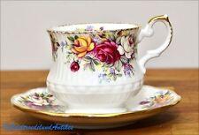 2 tlg. Kaffeetasse und Untertasse Queens Rosina Tea cup & Saucer Set