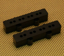 099-2038-000 (2) Genuine Fender Black Original Jazz Bass Pickup Covers