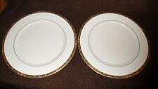 China Pearl Fine China Imperial Gold Encrusted Trim Dinner Plate (2)