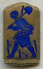 1930s-WWII Badge for French 618e Régiment de Pionniers (618th Pioneer Regiment)