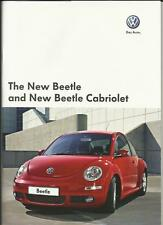 VW VOLKSWAGEN BEETLE AND BEETLE CABRIOLET SALES BROCHURE JULY 2008