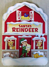 Santa's Reindeer Christmas Childrens Board Book The Clever Factory 2009